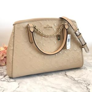 Coach Signature Small Margot (Platinum)